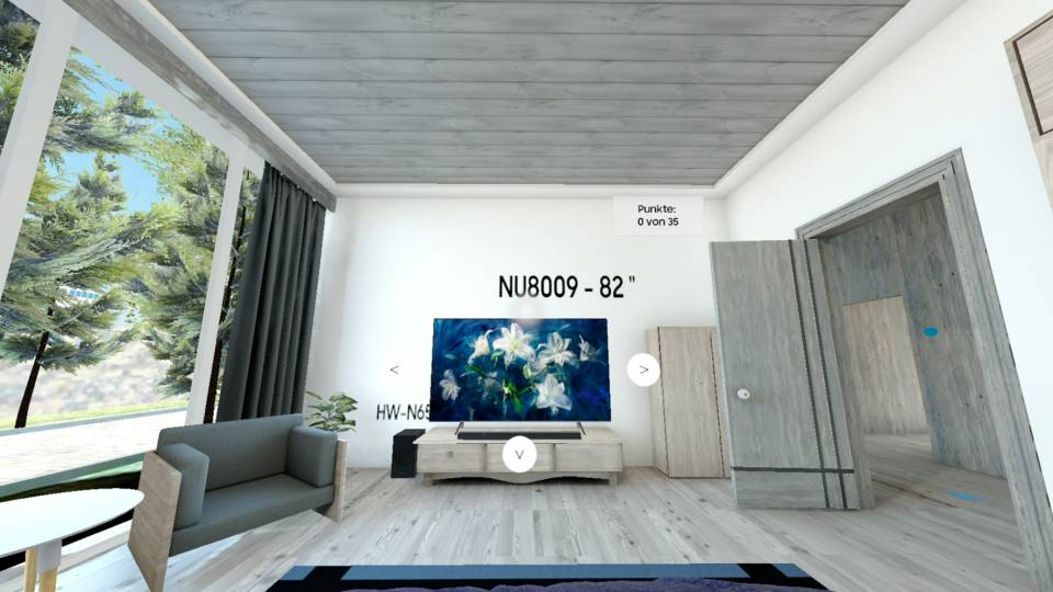 Samsung bietet ein interaktives Training im VR-Showroom an.