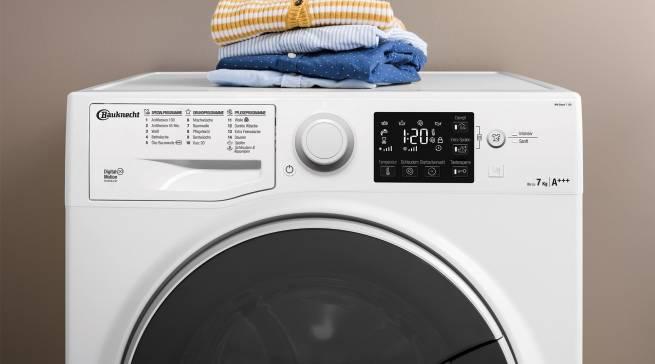 Die Active Care+ Steam Waschmaschinen von Bauknecht versprechen hohe Leistungskraft und Komfort mit einer innovativer Fleckenentfernung: über 100 verschiedene Flecken sollen sich bei 40 Grad und ohne Vorbehandlung entfernen lassen.