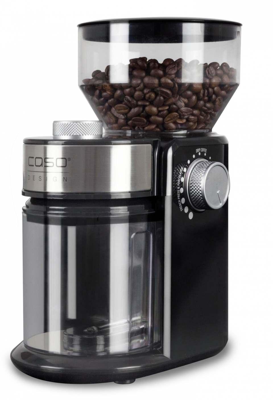 Caso Kaffeemühle Design Barista Crema mit Scheibenmahlwerk aus Gusseisen.