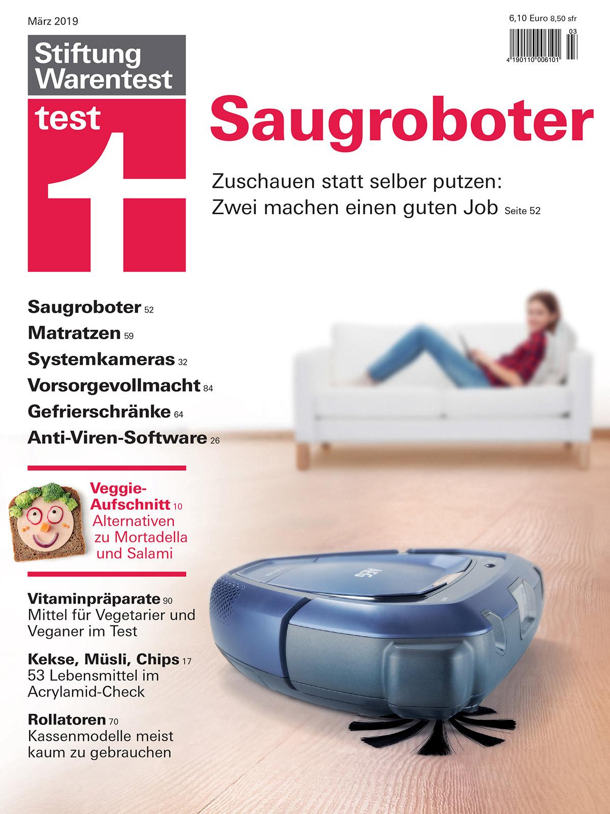 Cover Stiftung Warentest Staubsaugerroboter