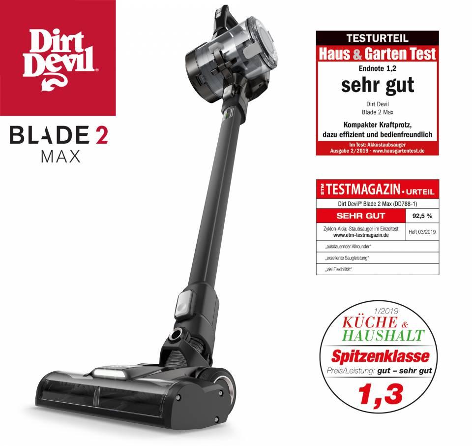 """Dreimal ausgezeichnet: """"Blade 2 Max"""" von Dirt Devil."""