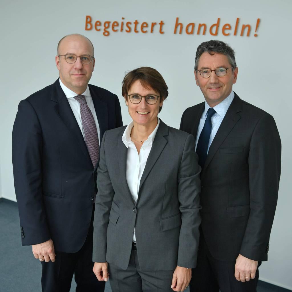 Der auf drei Köpfe reduzierte EK-Vorstand (v.l.): Martin Richrath, Susanne Sorg und Franz-Josef Hasebrink (Vorsitzender).