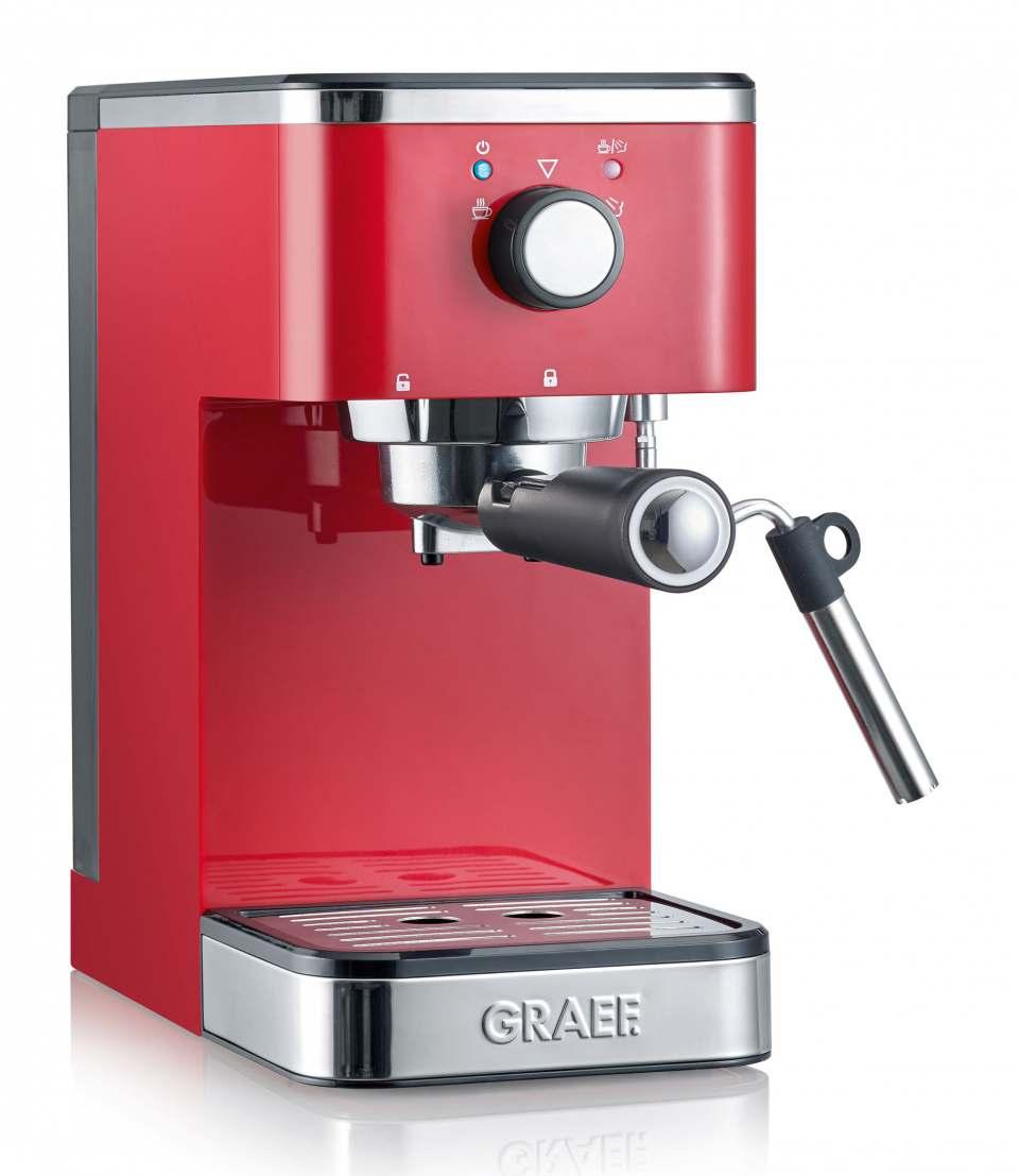 Graef Espressomaschine salita ES 400 mit langer Profi-Dampfdüse.