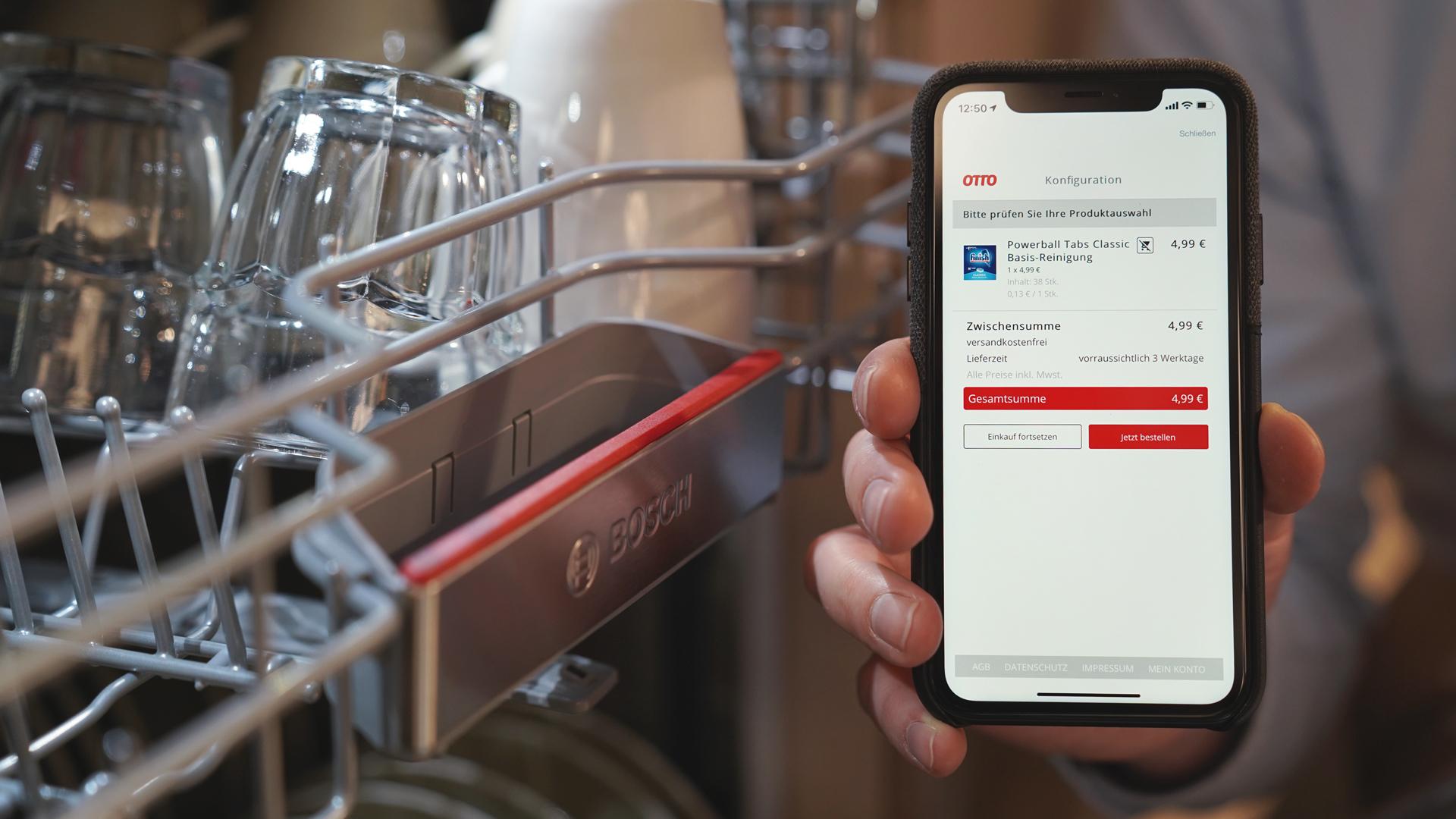 """""""Otto ready"""" """" fungiert als Verbindungselement zwischen Onlineshops und internetfähigen Haushaltsgeräten."""