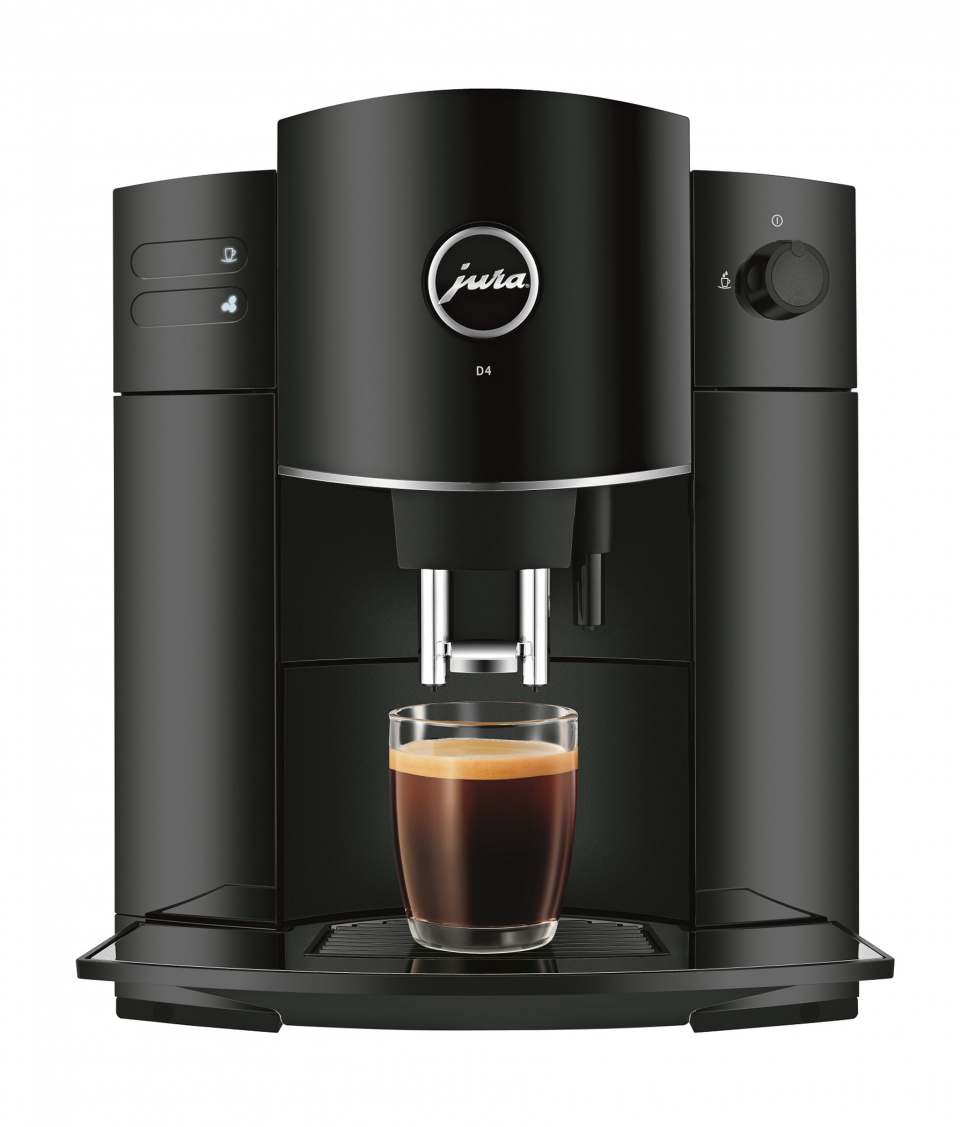 Jura Kaffeevollautomat D4 mit App-Erweiterung auf 12 Spezialitäten.