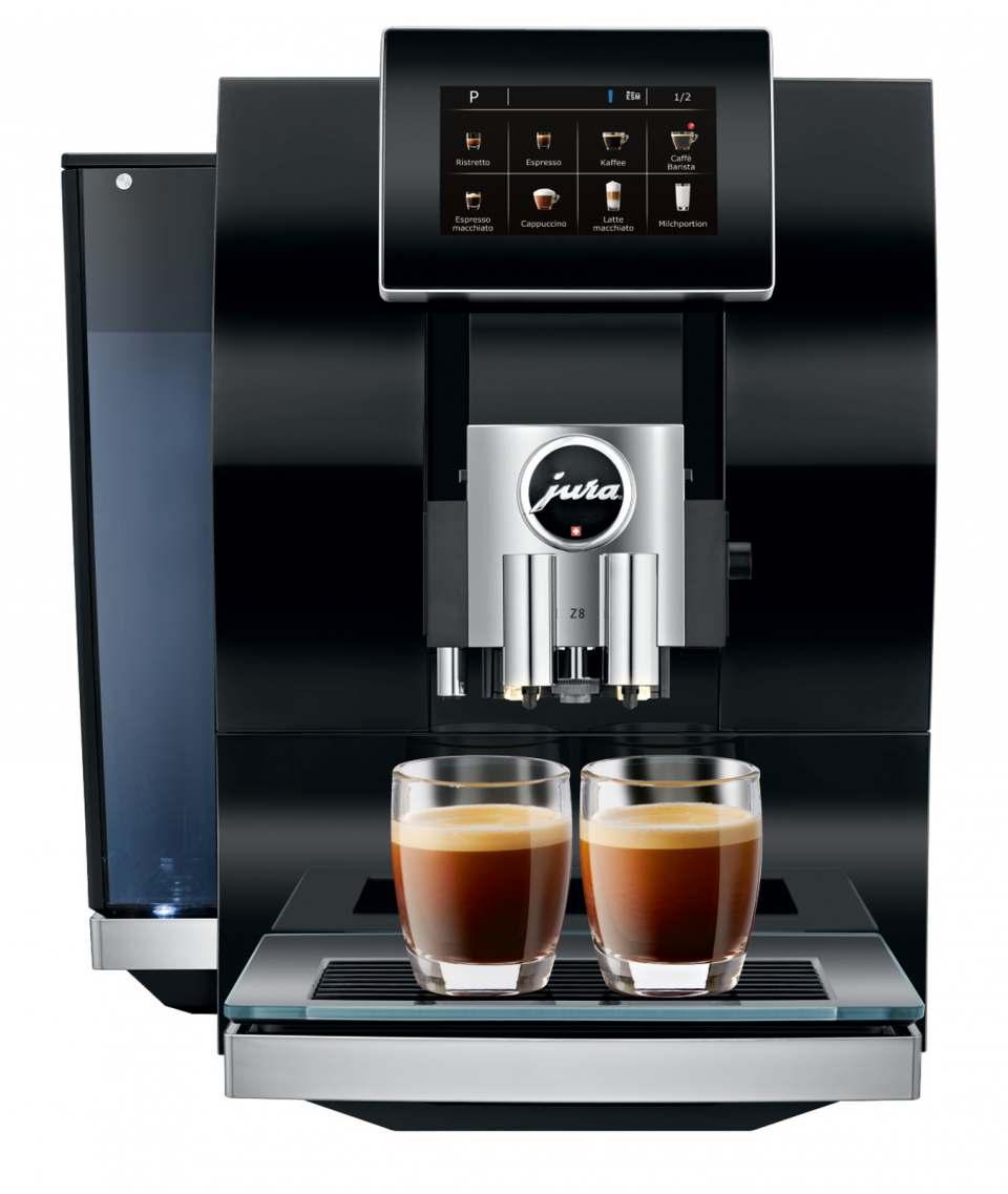Jura Kaffeevollautomat Z8 in Diamond Black.