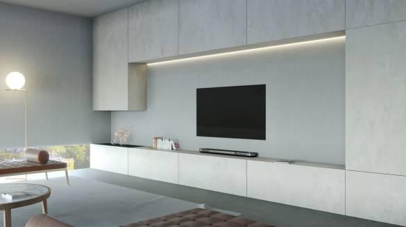 LG SIGNATURE OLED-TV W mit Creme Tönen
