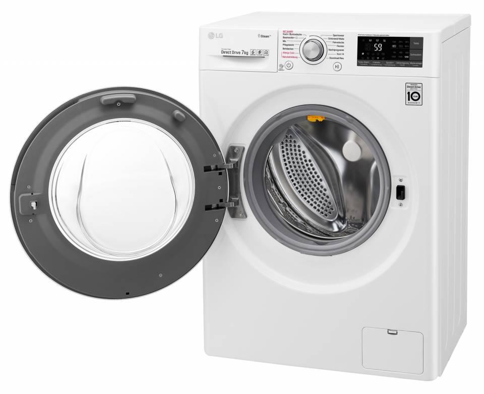 LG Waschmaschine F 12WM 7 Slim mit Steam-Funktion.
