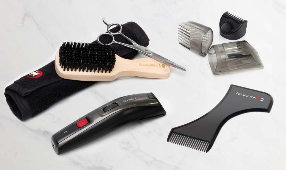 Remington Bartstyling Crafter Beard Kit MB4050 ist ein All-in-One-Set für moderne Bartstylings.