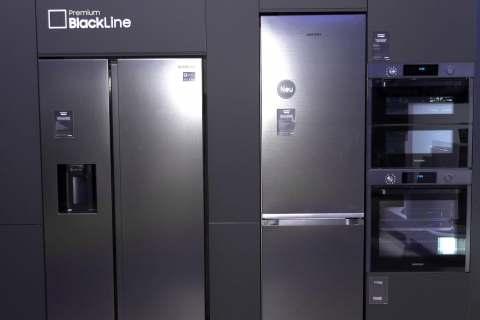 Mit der Premium BlackLine möchte Samsung besonders den Küchenhandel begeistern.