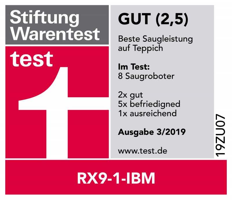 Stiftung Warentest Testsiegel AEG RX9