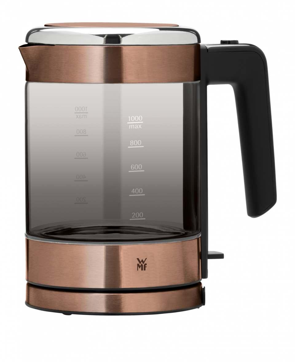 WMF KÜCHENminis Glas-Wasserkocher in Rauchglas Graphit oder Rauchglas Kupfer.