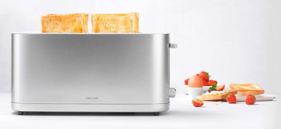 Zwilling Toaster Enfinigy mit 7 Bräunungsstufen.