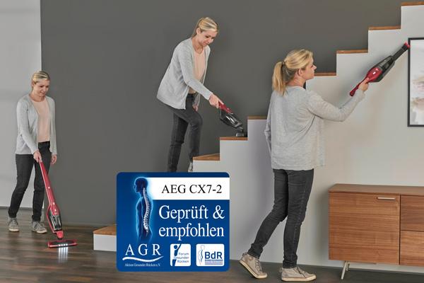 AEG: Den Rücken schonendes Saugen mit Prüfsiegel.