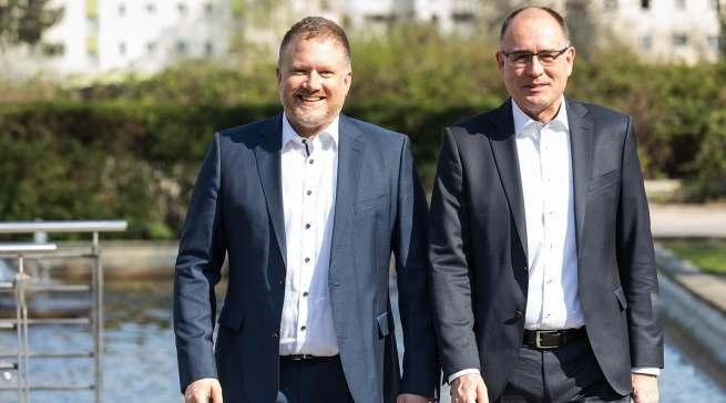 Markus Bisping, Vertriebsleiter Fachhandel Deutschland Beurer (li.), Thomas Klüsener, Vertriebsdirektor Retail Deutschland, Beurer