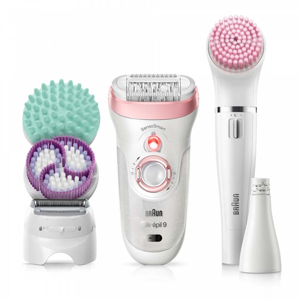 Braun Beauty Set 9 mit Silk-épil 9 SkinSpa und FaceSpa.