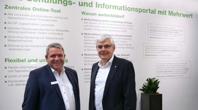 Viel Resonanz, viel Applaus und viele Gründe um zu strahlen: die EP: Vorstände Friedrich Sobol und Karl Trautmann.