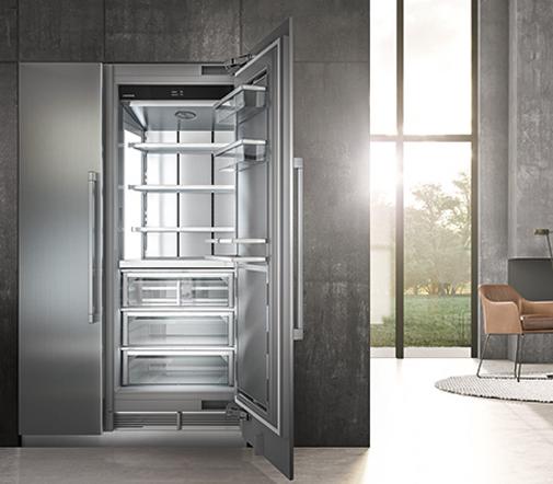 Zukunftsweisendes Lebensmittelmanagement: Der Einbaukühlschrank Monolith sorgt mit BioFresh-Technologie für längere Frische der Waren. Die Markteinführung in Europa ist für 2019 geplant.