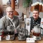 Gastgeber: Sage CEO Jim Clayton (l.) und Deutschland-Geschäftsführer Gerd Holl.