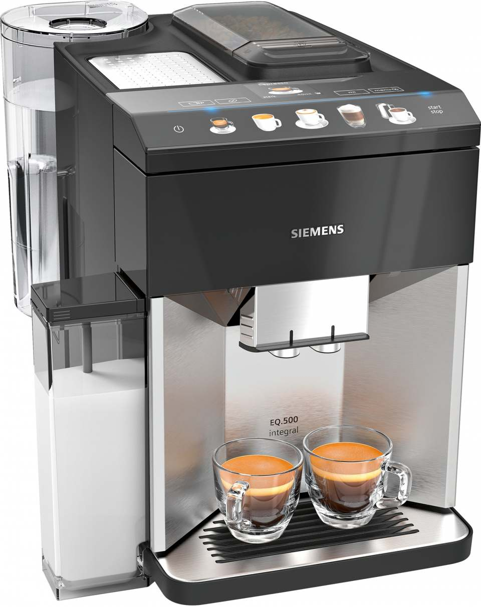 Siemens Kaffeevollautomat EQ.500 integral mit coffeeSelect TFT-Display.