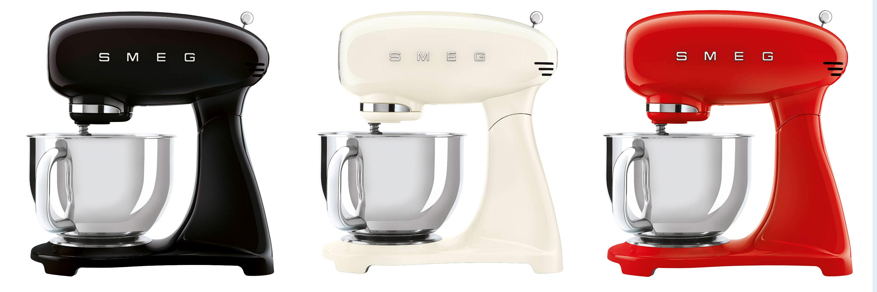 Smeg Smf03 Und Smf13 Retro Style Kuchenmaschinen Voller Farbvarianten