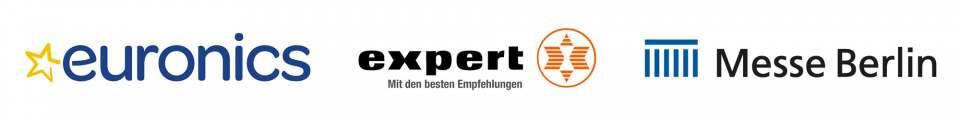 Euronics expert Messe Berlin Logos