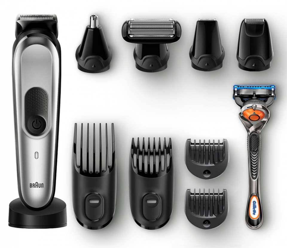 Braun Multigrooming-Kit 7020 mit 10 unterschiedlichen Funktionen zum Stylen und Trimmen.