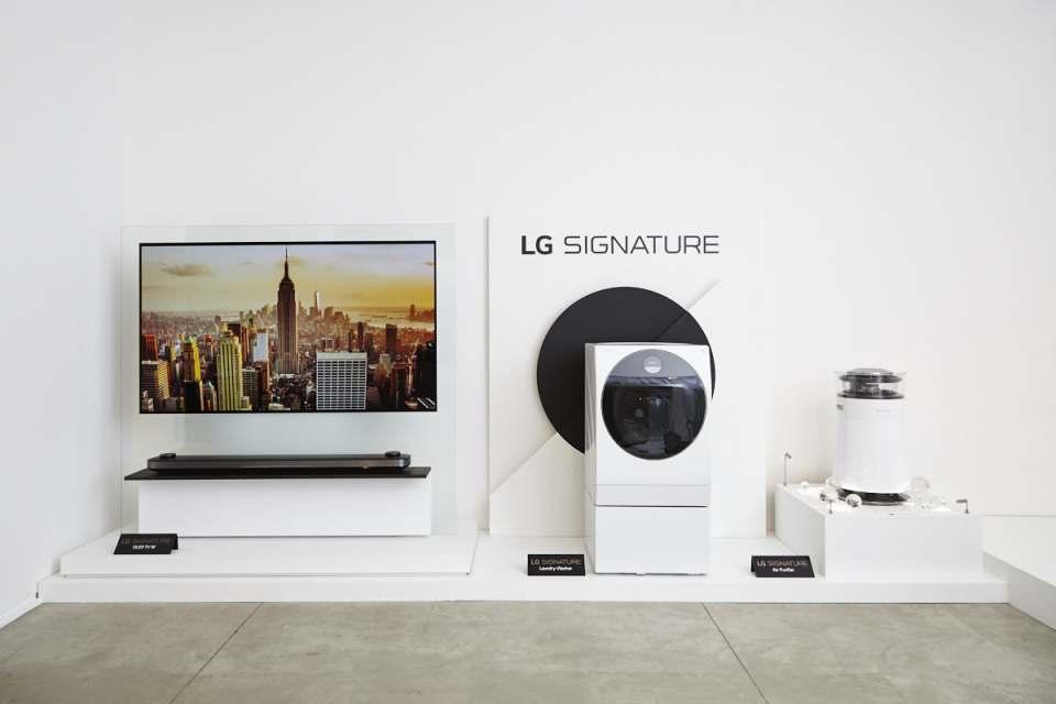 LG Signature: Modernste Technologie mit zeitloser Eleganz wird zum Kunstobjekt.