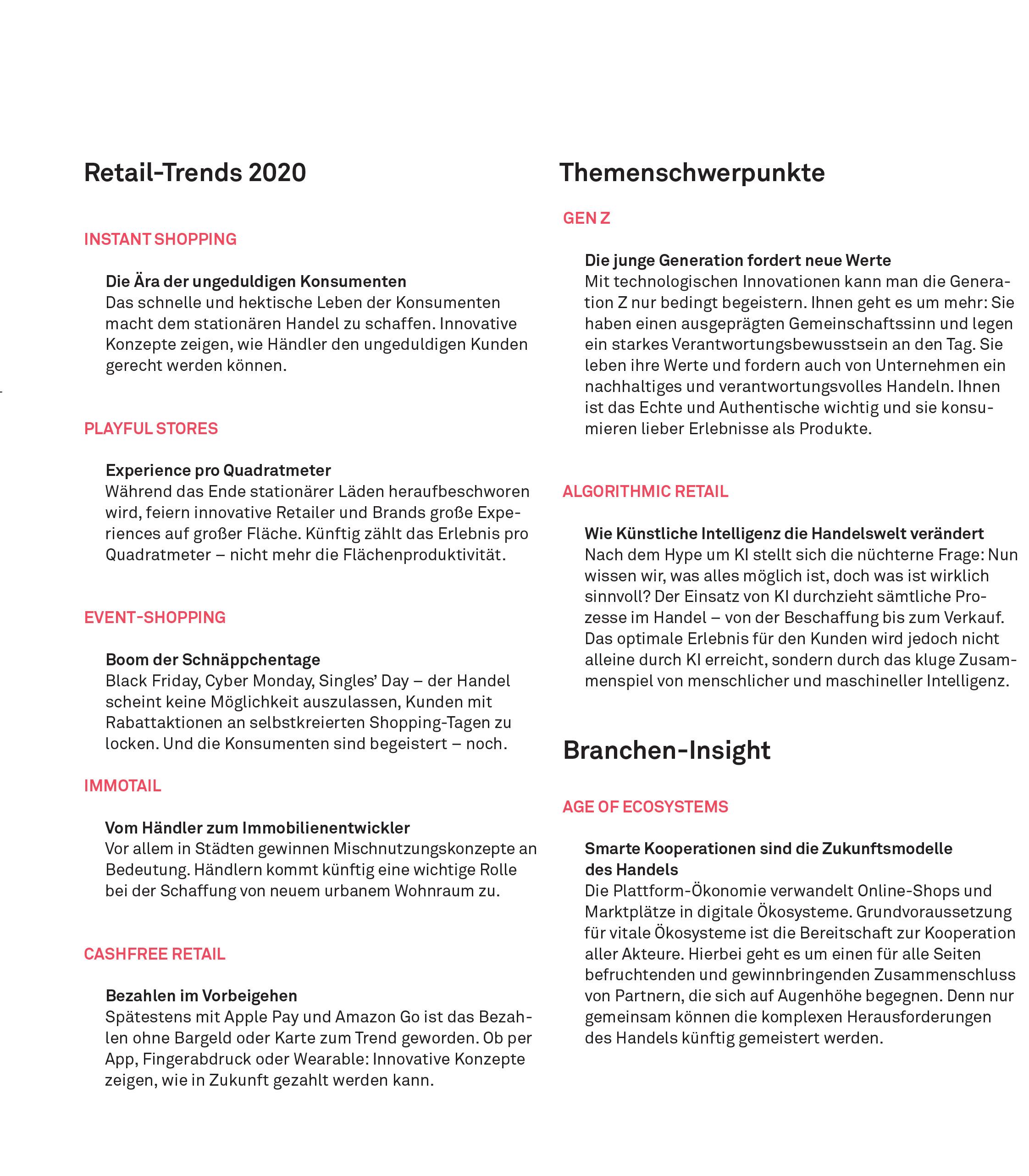 RetailReport Überlick-Trends