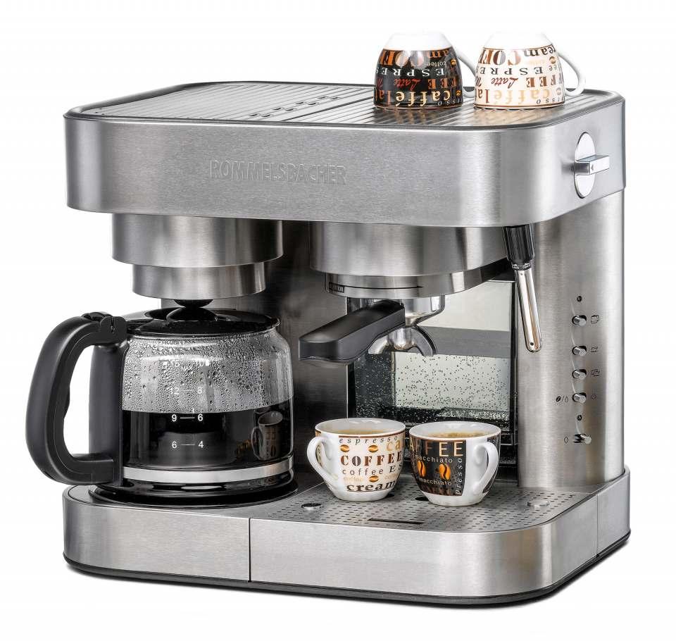Rommelsbacher Kaffee-/Espressocenter EKS 3010 für die Zubereitung von Filterkaffee, Espresso oder Tee.