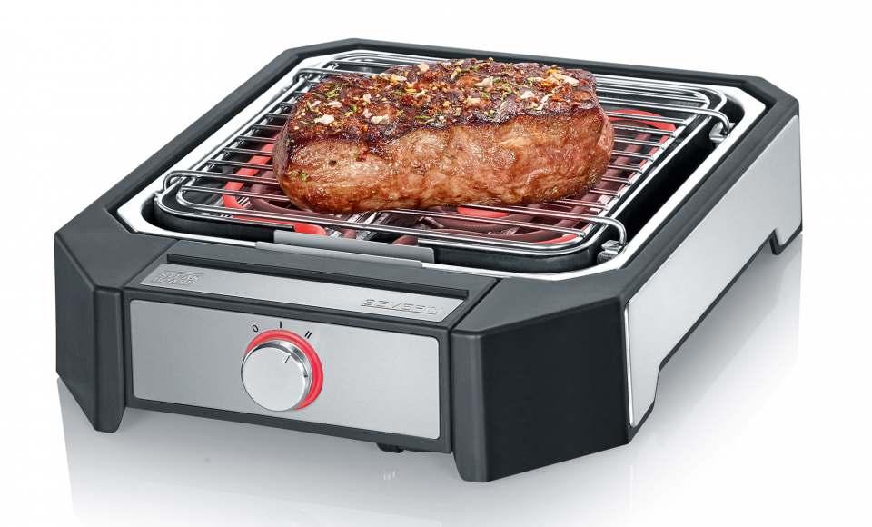 Severin Steakboard PG 8545 ermöglicht Angrillen bei 500 Grad.