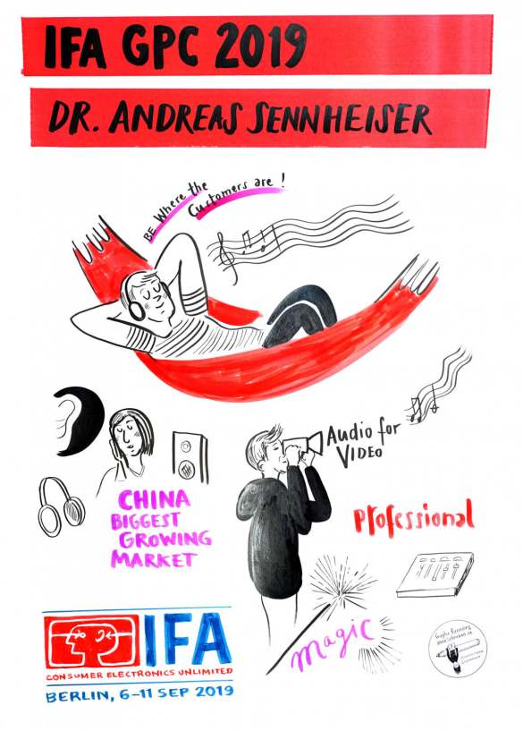 IFA Global Press Conference 2019 - IFA Press Conference - Graphic Recording Dr. Andreas Sennheiser