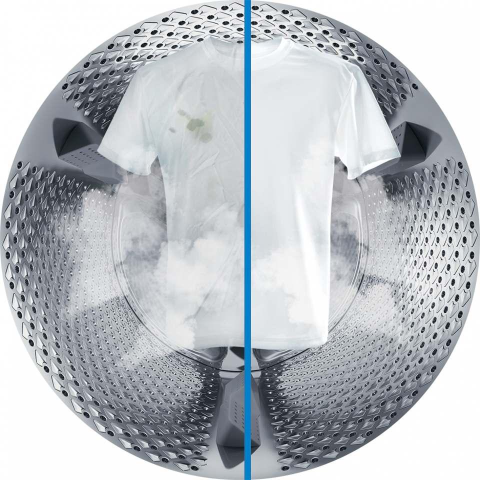 Hartnäckige Flecken löst Beko mit der Dampffunktion SteamCure.