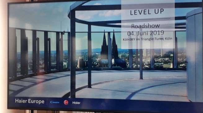 Haier will hoch hinaus: Die Roadshow in Köln fand in der 27. Etage statt.