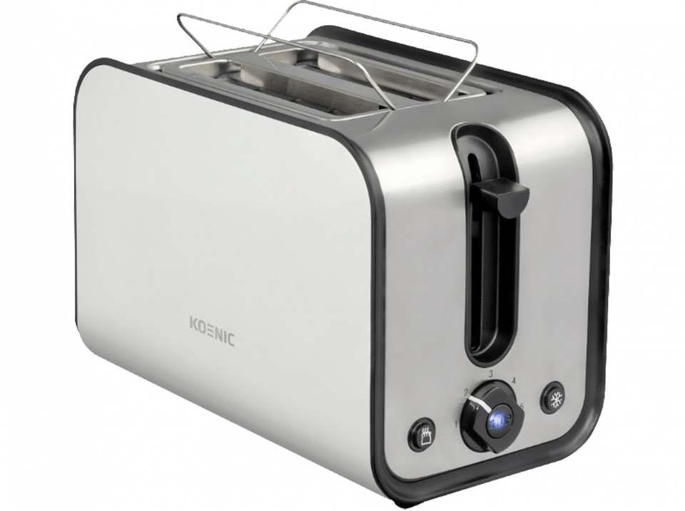 Koenic Toaster KTO 2212 mit 5 Röstgradeinstellungen.