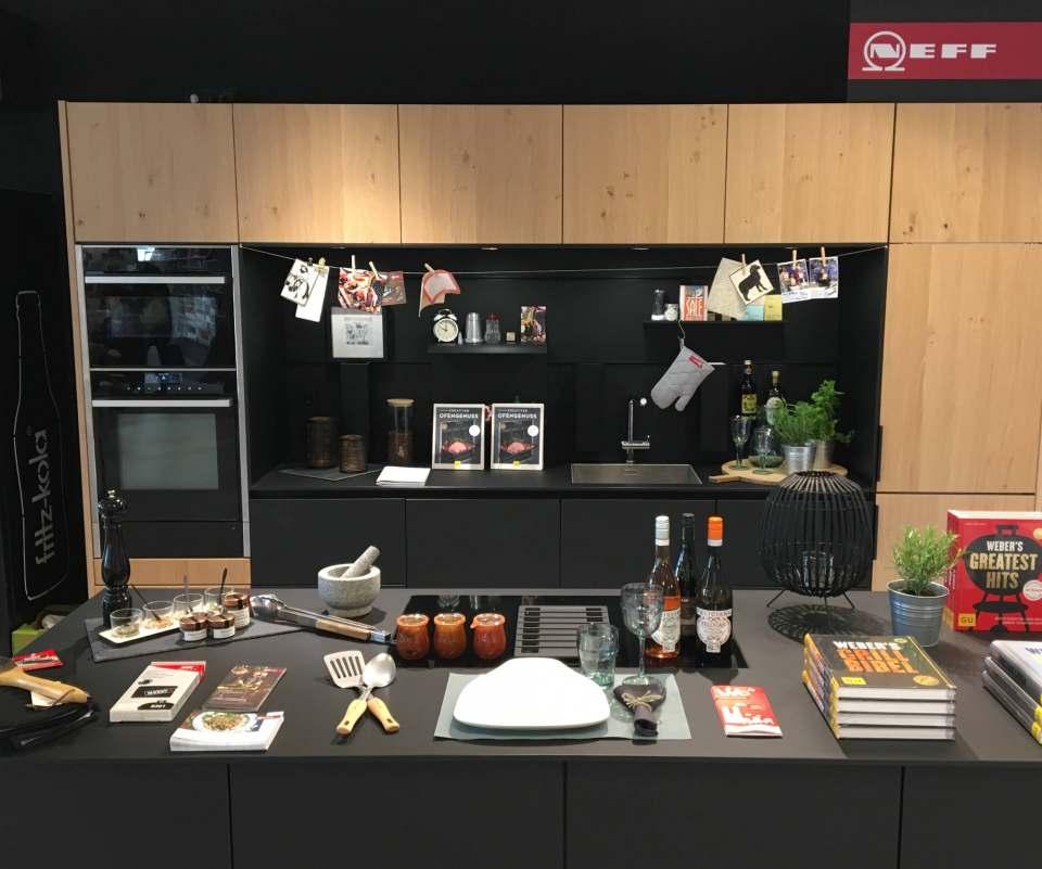 Die Show-Küche von Neff bei Hugendubel in München.