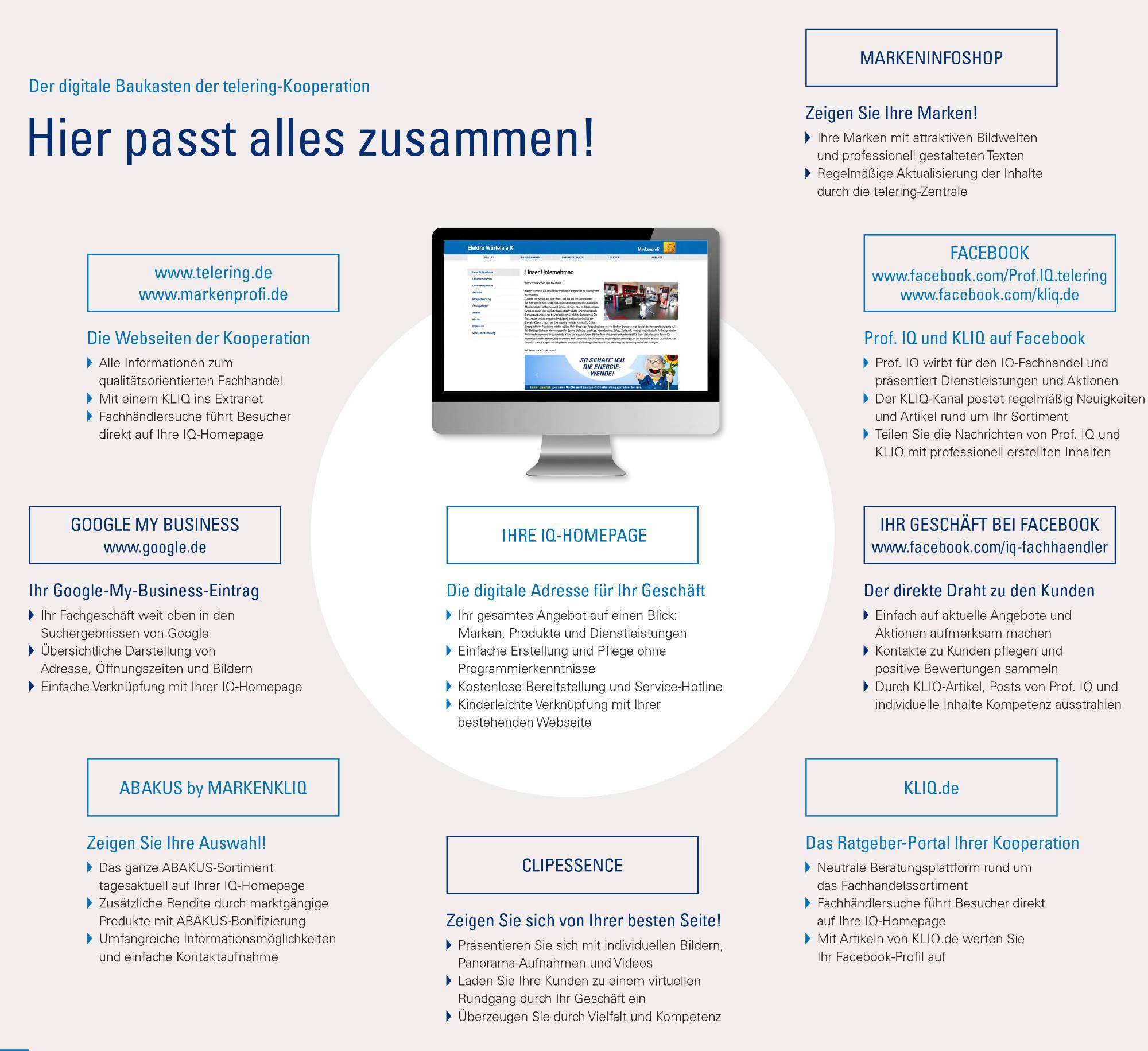 Online Marketing Broschüre telering Zusammenfassung