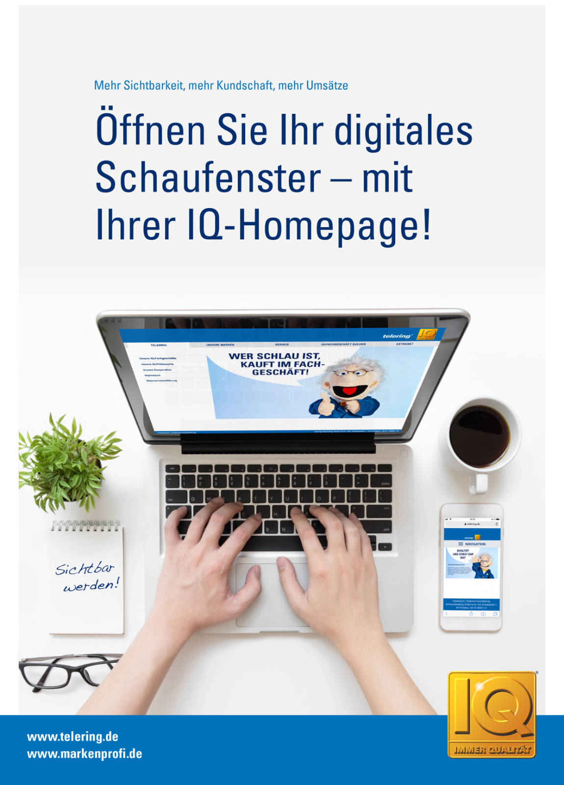 Online Marketing Broschüre telering Cover