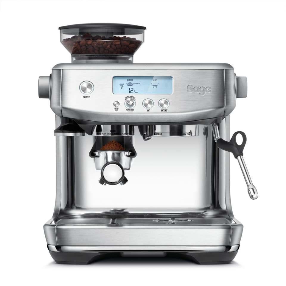 Sage Espressomaschine the Barista Pro mit nur 3 Sekunden Aufheizzeit.