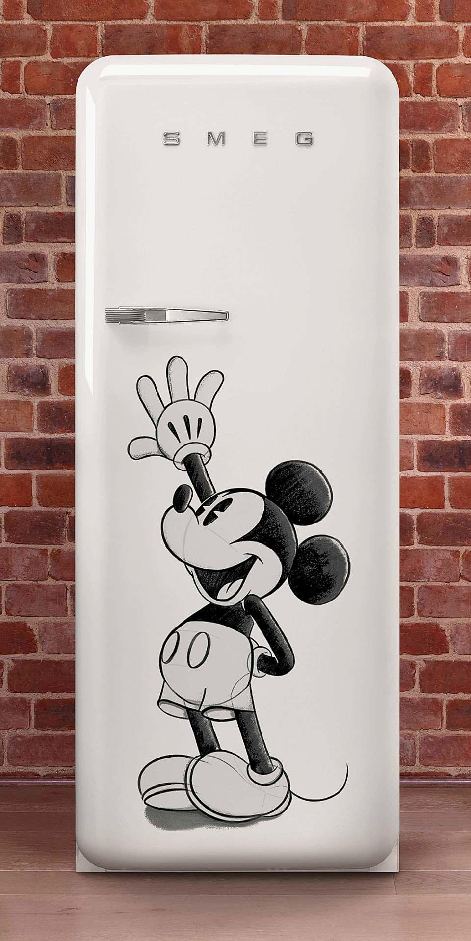 Smeg Kühlschrank FAB28 Mickey Mouse im Retro Design