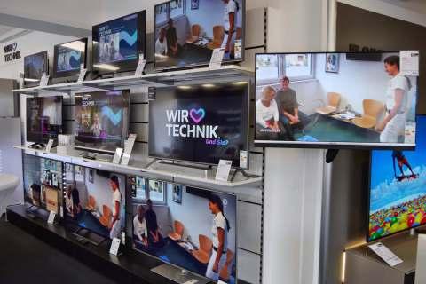Der Showroom mit exklusiver Unterhaltungselektronik und Hifi-Möbeln.