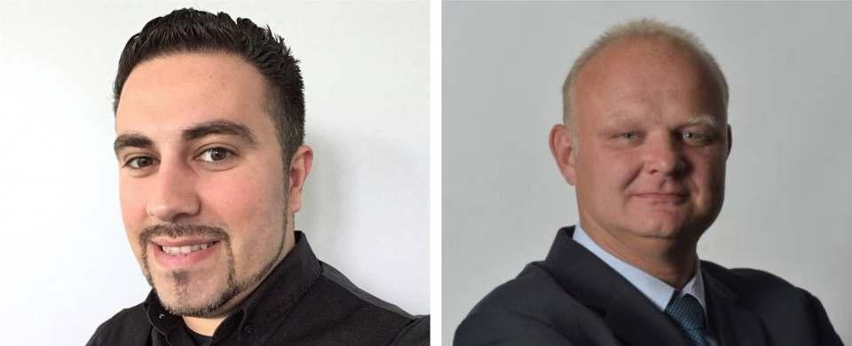 Antonio Golia (links) kümmert sich bei Haier ab sofort um den Vertrieb in Süddeutschland.Heimo Molterer (rechts) bearbeitet den Markt in Österreich für Haier, Candy und Hoover.