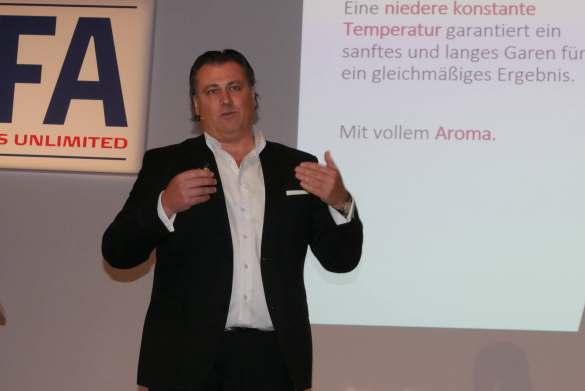 Zeigte die Mehrwerte für Haier, Candy und Hoover auf: Daniel Wild, Director Marketing bei Haier Deutschland.
