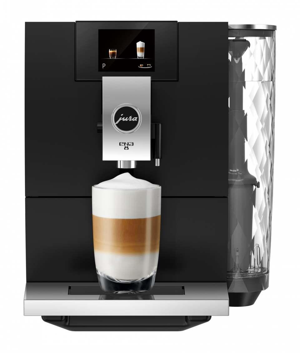 Jura Kaffeevollautomat Ena 8 Full Metropolitan Black mit Touch Screen.