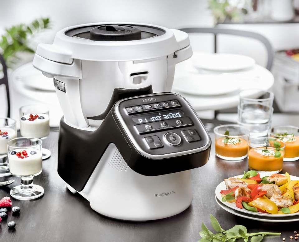 Krups Küchenmaschine Prep&Cook XL bereitet Speisen für bis zu 10 Personen.