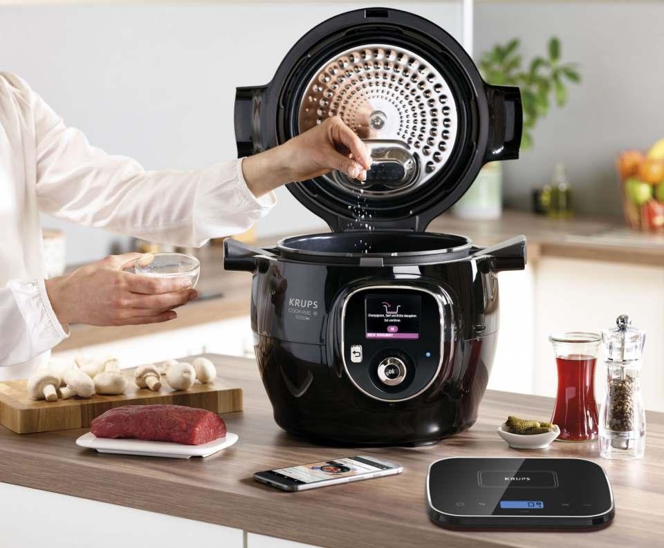 Krups Multikocher Cook4Me+ mit Waage Grameez für Kochanfängern wie Hobbyköche.