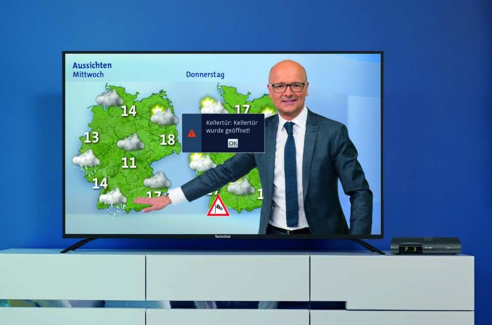 Überarbeitetes Connect von TechniSat: Push-Mitteilungen jetzt auch auf dem TV.