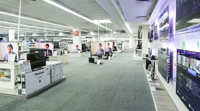 Auf 1.400 Quadratmetern zeigt expert Hoffmann ein großes Sortiment an Unterhaltungselektronik und Hausgeräten.
