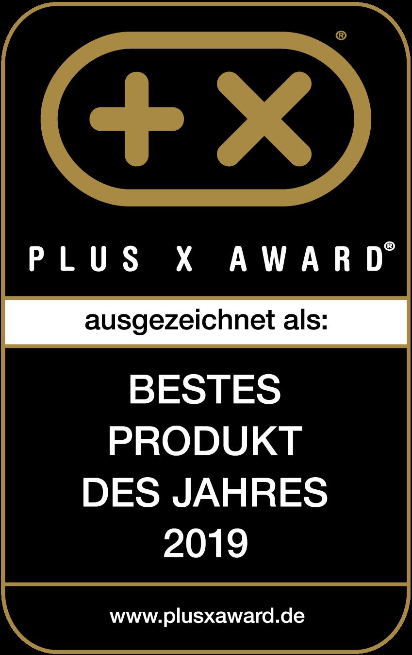Plus X Award Siegel Bestes Produkt des Jahres 2019