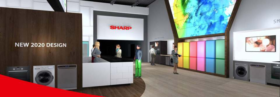 Sharp Stand IFA 2019 Design
